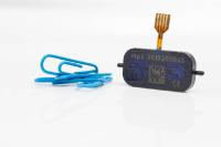 Our small mp6 micropump compared to a paperclip.