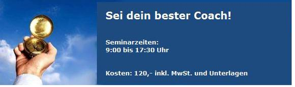 Workshop: Sei dein bester Coach!