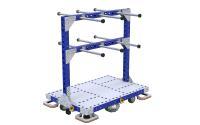 Aus beliebig kombinierbaren, robusten Grundkomponenten entstehen individuelle Transportregale. FlexQube hat das LEGO-Prinzip für die Intralogistik adaptiert, Bildquelle: FlexQube