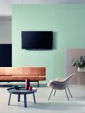 Ergänzt wird Connected Comfort durch den Premium-TV-Hersteller Loewe. Die Entertainment-Systeme von Loewe bestechen durch klare, präzise und elegante Formen sowie ausgefeilte Technologie. Eingebunden in die intelligente Gebäudetechnik verwandeln sie das Wohnzimmer in ein Heimkino oder machen aus dem Fernseher eine Steuerungseinheit für das Haus.  Bild: Loewe Technologies GmbH