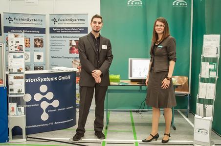 Firmengemeinschaftsstand der FusionSystems GmbH aus Chemnitz und der P3N MARKETING GMBH aus Zwickau