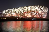 Caparol expertise was in demand as a very special, brilliant red paint coating was needed for the Olympic Stadium in Beijing (Photo: picture-alliance/dpa)/