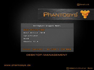 Phantosys Client-Boot-Menü