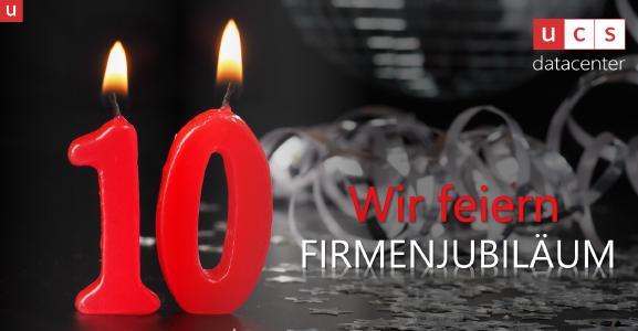 Die Mönchengladbacher ucs datacenter GmbH, Business-Cloud-Betreiber für mittelständische Unternehmen, feiert im Jahr 2021 ihr 10-jähriges Firmenjubiläum.