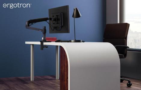 Ergotron LX Arm Monitor Tischhalterung (45-241-224) / Durchschraub & Tischklemme