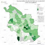 geomap - durchschnittliche Renditen in Köln nach Stadtteilen in 2019