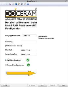 Konfigurieren statt Konstruieren: Der in Solid Works integrierte Produktkonfigurator erleichtert den Doceram-Konstrukteuren die Arbeit / Bild: Doceram GmbH