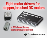 TI spins out eight new motor drivers for stepper, brushed DC motors