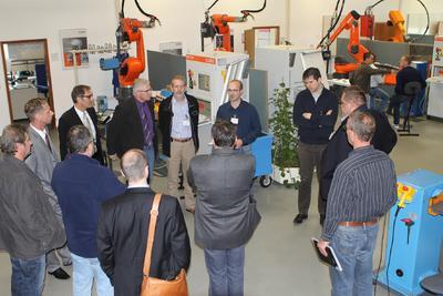 Praktische Vorführungen im CLOOS-Anwendungszentrum eröffneten...
