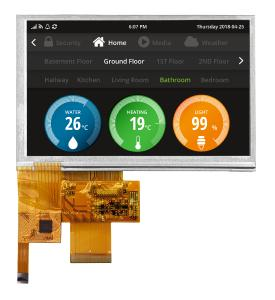 Evervision 5,0 Inch 800x480 TFT LVDS Interface_mit Touch