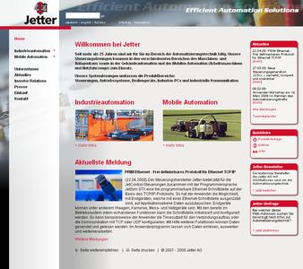 Jetter homepage