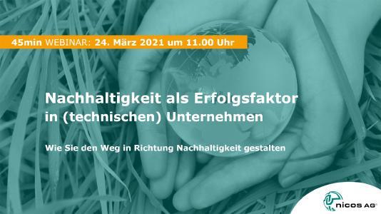 Nachhaltigkeit als Erfolgsfaktor in (technischen) Unternehmen - Live Webinar