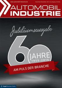 """Titelseite der """"Automobil-Industrie""""-Jubiläumsausgabe """"60 Jahre am Puls der Branche"""" (Foto: Automobil Industrie)"""