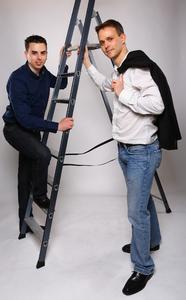 Die Echobot Gründer Bastian Karweg und Jannis Breitwieser 1
