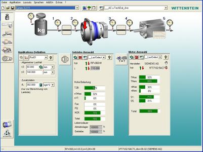 : Im Auslegungstool cymex® können die Ergebnisse umfassender Simulationen und Analysen über spezielle Schnittstelle eingelesen und ausgewertet und so die passenden Antriebskomponenten ausgewählt werden.