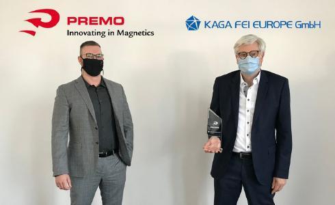 Markus Gensler, PREMO Sales Director D-A-CH und Axel Tripkewitz, Geschäftsführer KAGA FEI Europe GmbH