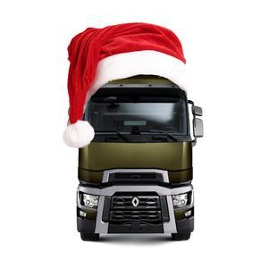 Renault Trucks T als Weihnachtsmann: Bereits zum dritten Mal veranstaltete Renault Trucks seine Fahrerweihnachtsfeier am Autohof Werne