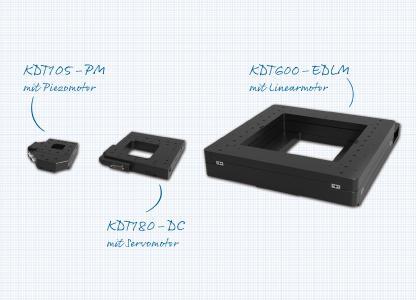 Jetzt noch präziser und vielseitiger: Steinmeyer Mechatronik hat die drei Kreuzdurchlichttische KDT105-PM, KDT180-DC und KDT600-EDLM überarbeitet