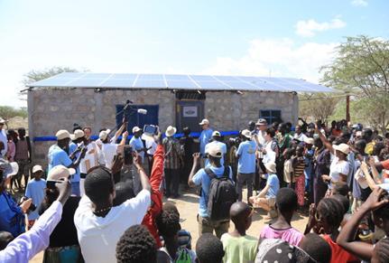 Einweihung der ersten DESERT FOOD Farm am Lake Turkana in Kenya
