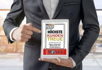 """diedruckerei.de wurde in einer Studie von Deutschland Test für """"Höchste Kundentreue"""" mit dem Prädikat """"Hervorragend"""" ausgezeichnet / Copyright: Onlineprinters GmbH"""