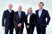 v.l.n.r. Herr Matthias Kurtz, RAKO-GRUPPE; Herr Daniel Künzli, Salzmann AG; Frau Elisabeth Fehr, OMNIPACK AG; Herr Adrian Tippenhauer, RAKO-GRUPPE