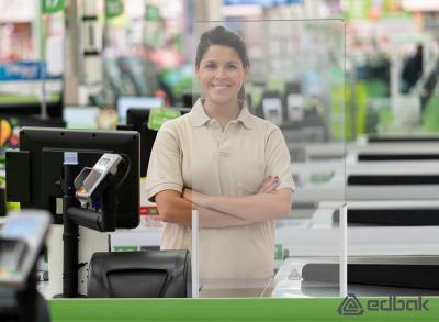 Edbak Proscreen Acrylglas Schutzscheibe Kassenbereich
