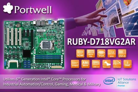 Das industrielle ATX Motherboard zeichnet sich durch ein Vielzahl von PCI und PCIe Slots aus und bietet neueste Intel® Core™ Technologie der 6. Generation mit bis zu 64GB DDR4 Hauptspeicher und schnellem SATA-3
