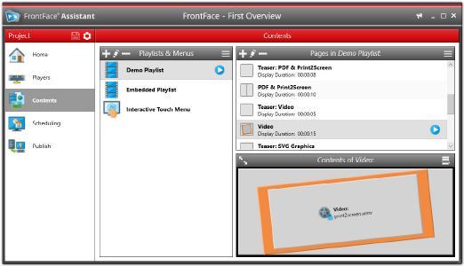 Screenshot: FrontFace Assistant
