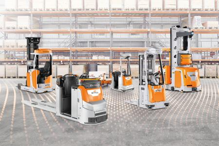 """""""We drive automated vehicles"""" – Materialflüsse intelligent automatisieren mit der STILL iGo Produktpalette.Foto: STILL GmbH"""