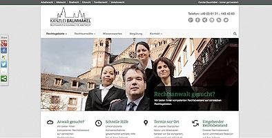 Rechtsanwaltskanzlei Baumhäkel launcht neue Homepage