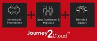 Die Journey2Cloud™ von Materna umfasst alle Stationen auf dem Weg in die Cloud: Beratung & Innovationen, Onboarding & Migration sowie Betrieb & Support / Bild: Materna