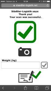 Auf der transport logistic zeigt Städtler-Logistik neue Erweiterungen seiner Software LP/2 – hier die Option SmartPOD: Per QR-Code-Scan mit einem Smartphone kann eine erfolgte Zustellung dokumentiert werden / Foto: Städtler-Logistik