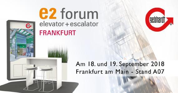 E2 Forum – Messe Frankfurt – GEBHARDT Foerdertechnik GmbH