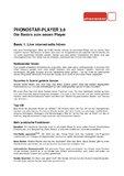 [PDF] Factsheet phonostar - Player 3.0
