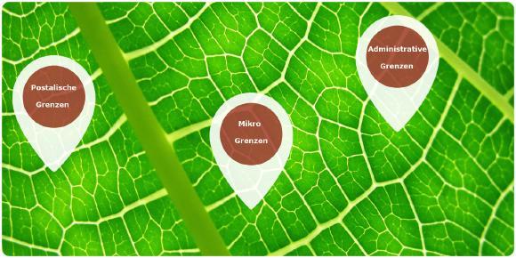 Weltweite, digitale Gebietsgrenzen – postalisch – administrativ- mikro