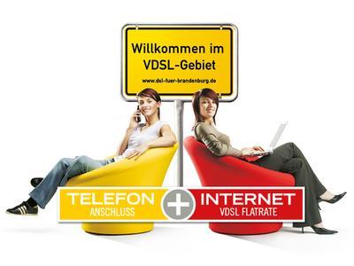 Willkommen im VDSL Gebiet, www.dsl-fuer-brandenburg.de