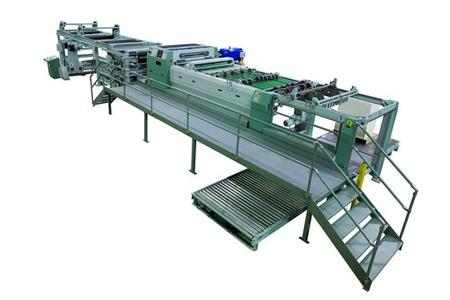 The folio-size sheeter SHM 1650 DR with full automation offers high efficiency with minimal waste
