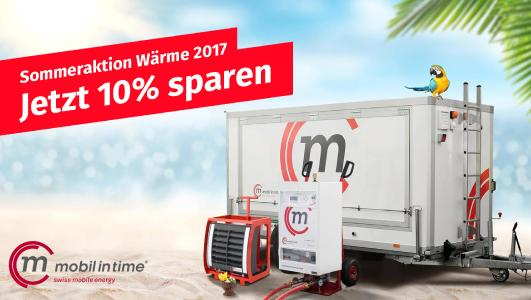 Mobil in Time Sommeraktion Wärme 2017