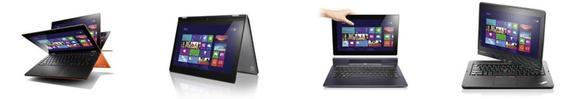 Lenovo IdeaPad Yoga, Lenovo IdeaTab Lynx und Lenovo ThinkPad Twist
