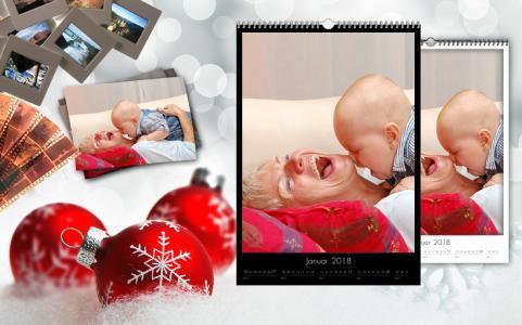 Ein Fotokalender mit gemeinsamen Erinnerungen ist eine sehr persönliche Idee, die ein Jahr lang Spaß und Freude bereitet.