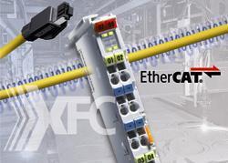 Der Echtzeit-Ethernet-Feldbus EtherCAT bietet für Blechverarbeitungsanlagen u. a. Vorteile bei der höheren Geschwindigkeit beim Stanzen, Prägen oder Lasern