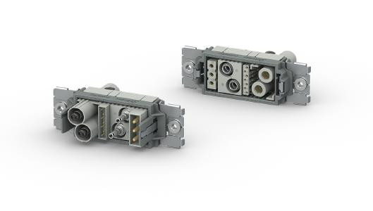 CombiTac direqt is the latest generation of connectors for manual and automatic connecting with up to 10,000 mating cycles. The new user-friendly, tool-free click-and-connect system allows you to assemble your modular connector system in the simplest and most time-saving way.