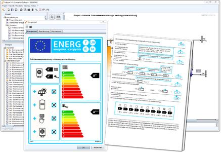 The new ErP datasheet and ErP label in Polysun
