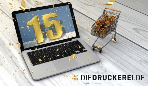 Vor 15 Jahren wurde die Onlinedruckerei Onlineprinters gegründet. Als Startpunkt gilt der Launch des deutschen Onlineshops unter der Domain www.diedruckerei.de. Heute beliefert das Unternehmen mehr als eine Million Kunden in 30 Ländern Europas / Copyright: Onlineprinters GmbH