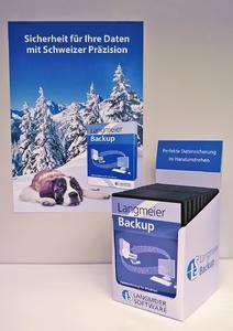 Der Hingucker im Laden: Professionelles Backup von Langmeier Software aus der Schweiz
