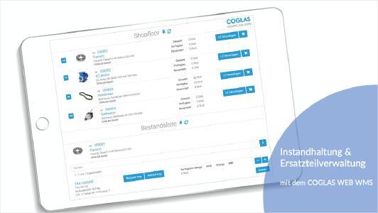 Verwalten Sie Ihr Ersatzteillager ganz einfach mit dem COGLAS WEB WMS.