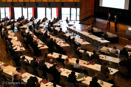 Das Forum für innovatives Dokumenten- und Output-Management, Comparting (auf dem Bild: Veranstaltung von 2013), am 16. und 17. Ok-tober 2014 in Böblingen feiert dieses Jahr sein zehnjähriges Jubiläum.