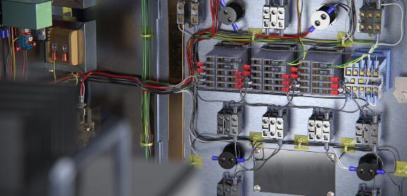 SOLIDWORKS Electrical Schematic bietet eine leistungsstarke, benutzerfreundliche Suite an Konstruktionswerkzeugen für Zusammenarbeit und schematische Konstruktionen. (Renderings mit SOLIDWORKS VISUALIZE/DPS) Dieser Schaltplan einer Heim-Brauerei ist mit SOLIDWORKS Electrical Schematic und die mechanische Baugruppe mit SOLIDWORKS CAD erstellt. Kabel und Leitungen sind mit SOLIDWORKS Electrical 3D automatisiert geroutet. Anschließend wurden die Daten der Gesamtbaugruppe mit SOLIDWORKS VISUALIZE photorealistisch gerendert