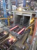 Die 2016 von SMS group gelieferte Zweistrang-Brammengießanlage bei Tata Steel in Kalinganagar