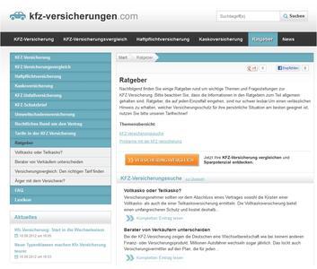 Kfz-Versicherungen.com informiert